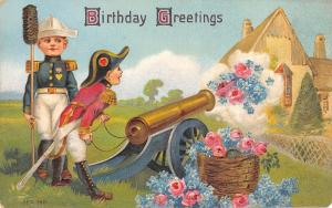 Birthday Fantasy~Boys Dressed as Napoleon Shoot Flowers From Cannon~Thatch House
