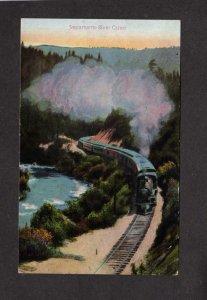 CA Sacramento River Canon Railroad Train SPRR Shasta Rt California Postcard
