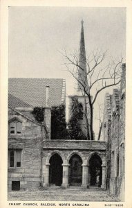 Raleigh North Carolina~Stone Archway~Climbing Vines~Christ Church Steeple 1940s
