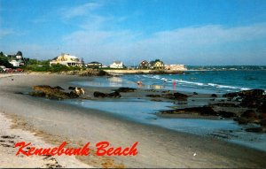 Maine Kennebunkport View Along The Beach