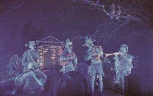 DISNEYLAND, 1970s; Haunted Mansion, Spirited Spooks play medieval melodies fo...