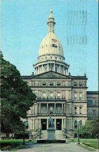 VTG Postcard Michigan State Capitol Lansing 1967 Ohio Baltimore Maryland 160