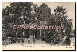 Postcard Ancient pottery Golfe Juan Gardens