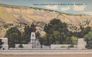Statue Of Marquis De Mores In Medora, North Dakota Badlands, 1930-1940s
