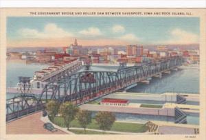 Illinois Rock Island Government Bridge and Roller Dam Curteich