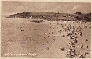 FALMOUTH, Cornwall, England, 1930s ; Gyllyngvase Beach