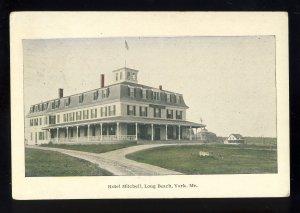York, Maine/ME Postcard, Hotel Mitchell, Long Beach, 1925!