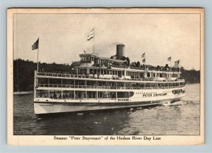 Steamer Peter Stuyvesant Of The Hudson River Day Lines Vintage Postcard