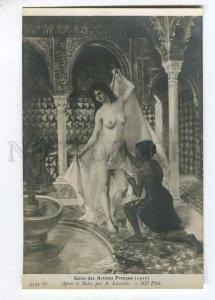 257476 Nude SLAVE Female HAREM Black by LECOMTE vintage SALON