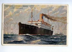 190832 SVENSKA AMERIKA LINIEN ship DROTTNINGHOM LIGHTHOUSE