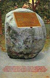 ATHENS PA~BOULDER-DAUGHTERS AMERICAN REVOLUTION-FORT SULLIVAN~1910 PSMK POSTCARD