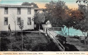 D88/ Spicer-On-Green-Lake Minnesota Mn Postcard c1910 Tepetonka Hotel