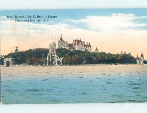 Divided-Back SURFING SCENE Heart Island - Thousand Islands New York NY hp4867