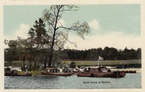 BALLOCH , Dunbartonshire, Scotland , 1900-10s ; Boats on River Leven