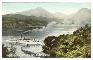 Steamer From Bridge Over Inversnaid Falls, Loch Lomond, Scotland, UK, 1900-1910s