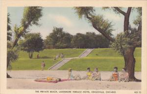 Private Beach , Lakeshore Terrace Hotel , KINGSVILLE , Ontario , Canada , 30-40s