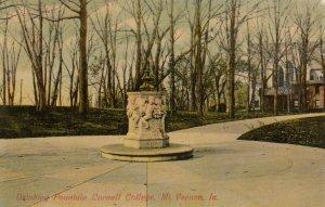 MT VERNON , Iowa , 1912 ; Drinking Fountain , Cornell College