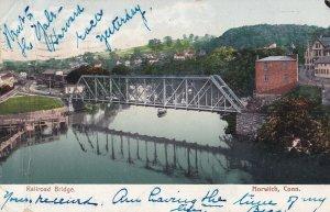 NORWICH, Connecticut, PU-1907; Railroad Bridge