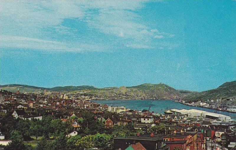 View Of City And Harbour Of St. John's Showing The Finger Pier, Newfoundland,...
