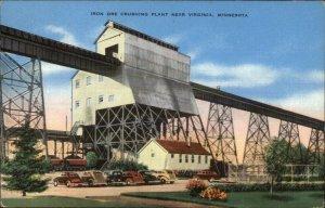 Iron Ore Crushing Plant Near Virginia MN Linen Postcard