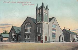 BARRIE , Ontario , Canada , 1909 ; Elizabeth Street , Methodist Church