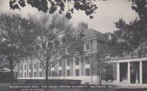 Maryland Baltimore Mergenthaler Hall The Johns Hopkins University Artvue