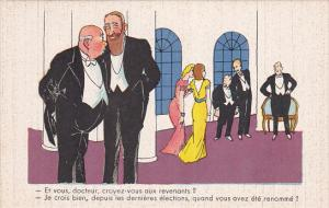 Political Comic postcard , France ,  10-30s # 20