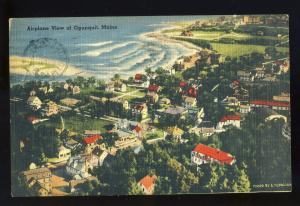Ogunquit, Maine/ME Postcard, Airplane View, 1943!