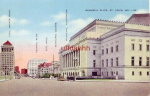 MEMORIAL PLAZA, ST. LOUIS, MO incl. City Hall, Courts Bldgs., Auditorium