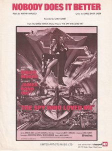 Nobody Does It Better James Bond 1970s Sheet Music