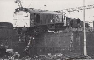 Stoke Station Train 1985 Railway Crash Disaster Postcard