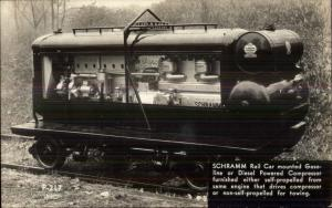 Schramm Rail Car Gasoline or Diesel Compressor For Towing Railroad Ad RPPC