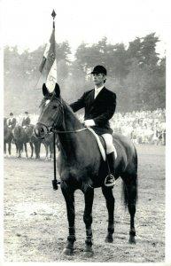 Horse Sports - Hippique Flag Real Photo Postcard 03.91