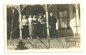 Family On the Porch, Real photo postcard, AZO 1904 - 1918