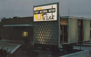 PLEXIGLAS signs , Auburn Plastic Engineering , 1st National Motor Bank , 1950s