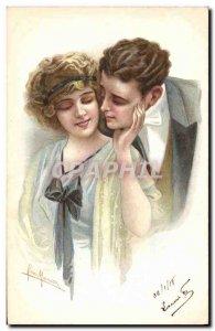 Old Postcard Fantasy Illustrator Woman