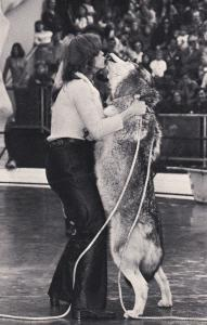 Wild Animal Show, Canadian Timber Wolf Nehani, Zoo, San Diego, CA, 50-60s