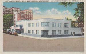 SYRACUSE , New York, 30-40s ; Central Greyhounds Lines Bus Terminal