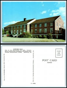 GEORGIA Postcard - Americus, Georgia Southwestern College, Sanford Hall N9