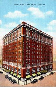 Iowa Des Moines Hotel Savery