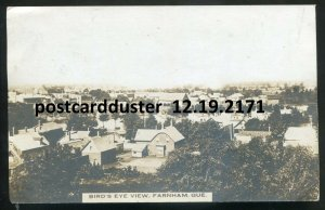 2171 - FARNHAM Quebec 1910 Birds Eye View. Real Photo Postcard