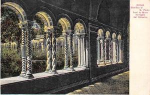 Italy Roma, basilica di S. Paolo, Mura dettaglio del Chiostro