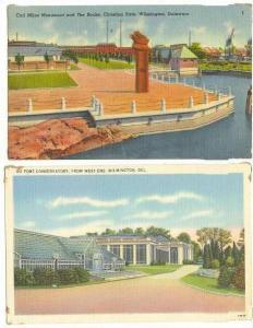 2 PC LOT, Scenes Around Wilmington, Delaware, 30-40s