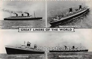 Cunard Liner RMS Queen Mary SS France Ship Unused