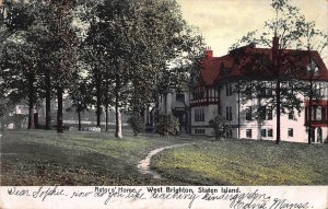 Actor's Home, West Brighton, Staten Island, N.Y., early postcard, used in 1906
