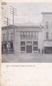 Pennsylvania Union City First National Bank 1909
