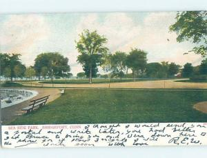 Pre-1907 PARK SCENE Bridgeport Connecticut CT H4053