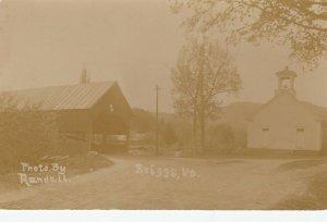 RP: BRIGGS , Vermont , 1900-10s ; Covered Bridge & Street