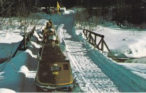 STE. AGATHE DES MONTS, Quebec, Canada, PU-1988; Snow-Mobile Trail