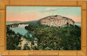 c1910 Postcard; 'Wood Frame' Vignette Mohonk Lake, Ulster County NY Unposted